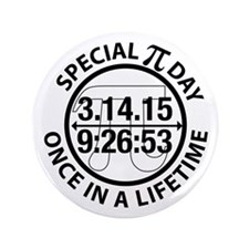 """Cute Pi day 3.5"""" Button (100 pack)"""