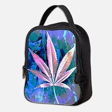Pink Kush Leaf Neoprene Lunch Bag