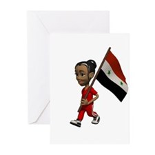 Syria Girl Greeting Cards (Pk of 10)