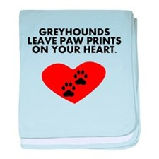 Greyhounds Leave Paw Prints On Your Heart baby bla