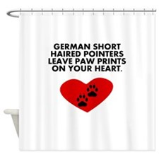 German Shorthaired Pointers Leave Paw Prints On Yo Shower Curtain