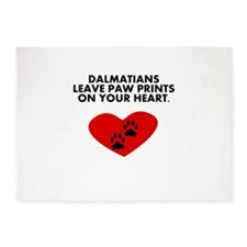 Dalmatians Leave Paw Prints On Your Heart 5'x7'Are