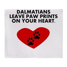 Dalmatians Leave Paw Prints On Your Heart Throw Bl