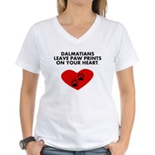 Dalmatians Leave Paw Prints On Your Heart T-Shirt