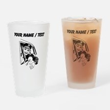 Taxi Driver (Custom) Drinking Glass