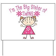 Big Sister of Twins Yard Sign