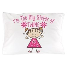 Big Sister Of Twins Pillow Case