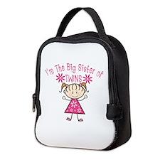 Big Sister Of Twins Neoprene Lunch Bag