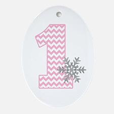 Snowflake 1 Ornament (Oval)