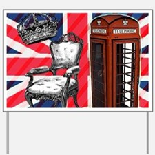 telephone booth london fashion Yard Sign