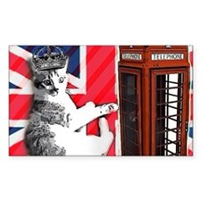 modern london fashion cat Decal