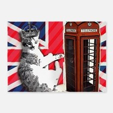 modern london cat 5'x7'Area Rug