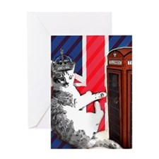 modern london cat Greeting Cards