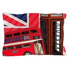 telephone booth london bus Pillow Case