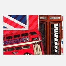 telephone booth london bu Postcards (Package of 8)