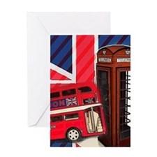 telephone booth london bus Greeting Cards