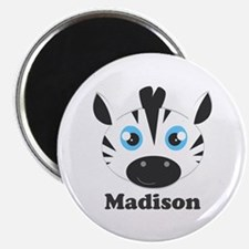 Custom Name Cute Zebra Magnet
