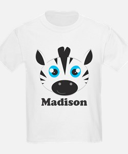Custom Name Cute Zebra T-Shirt