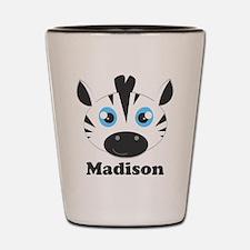 Custom Name Cute Zebra Shot Glass