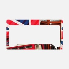 telephone booth london bus License Plate Holder