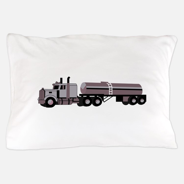 SEMI W/ TANKER Pillow Case