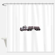 SEMI W/ TANKER Shower Curtain