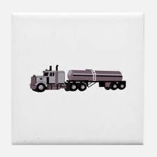 SEMI W/ TANKER Tile Coaster