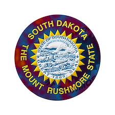 """South Dakota State Flag 3.5"""" Button"""