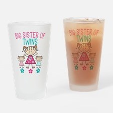 Big Sister of Twins Drinking Glass
