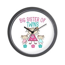 Big Sister Of Twins Wall Clock