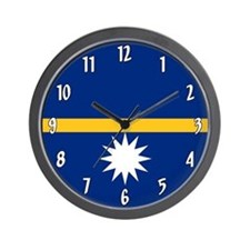 Flag of Nauru Wall Clock