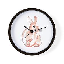 Cuddly Rabbit Wall Clock