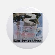BILLS NEW PROVIDENCE COFFEE. Round Ornament