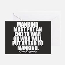 Anti War Greeting Card