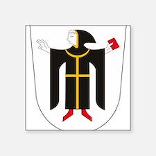 "Unique Munich Square Sticker 3"" x 3"""