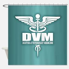 Caduceus DVM Shower Curtain