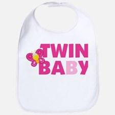 Twin Girl Baby A and B Bib