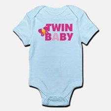 Twin Girl Baby A and B Onesie
