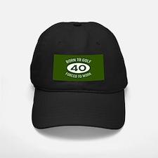 40th Birthday Golf Baseball Hat