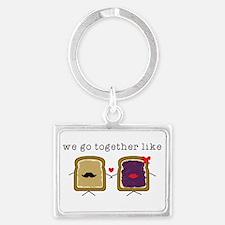 We go Together Like PB&J Keychains