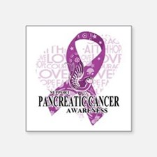 Pancreatic Cancer Love Hope Bird Sticker