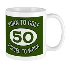 50th Birthday Golf Mugs