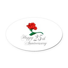 ANNIVERSARY 25TH Oval Car Magnet
