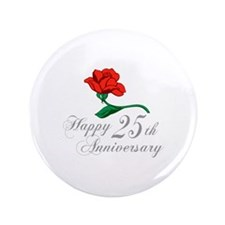 "ANNIVERSARY 25TH 3.5"" Button (100 pack)"