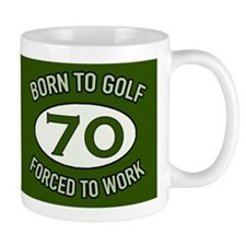 70th Birthday Golf Mugs
