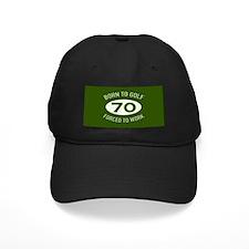70th Birthday Golf Baseball Hat