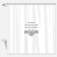 Jane Austen Quote Shower Curtain
