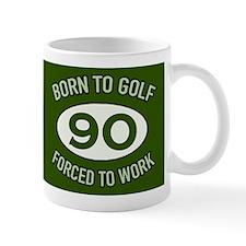 90th Birthday Golf Mugs