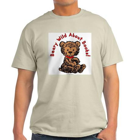Beary Wild About Books Light T-Shirt
