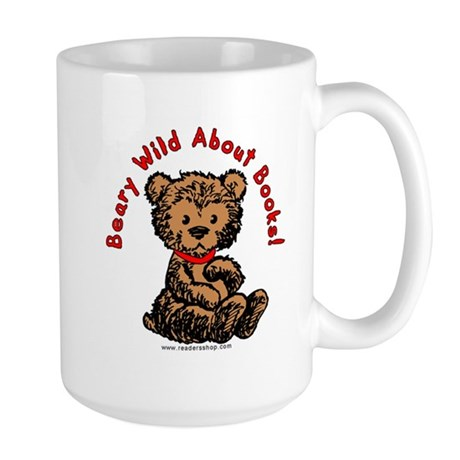 Beary Wild About Books Large Mug